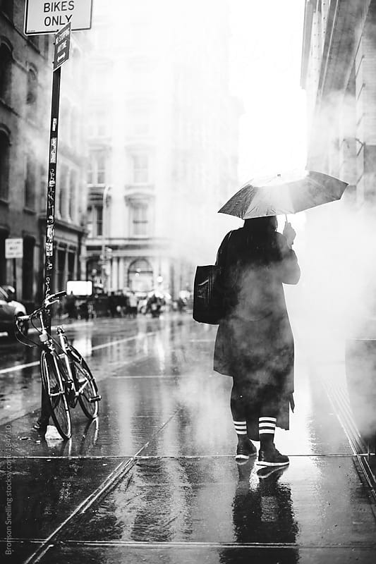 Rainy in Soho by Bronson Snelling for Stocksy United