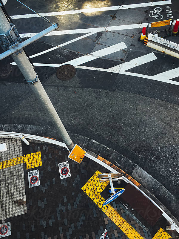 Japan Traffic - Road Marking in Tokyo by VISUALSPECTRUM for Stocksy United