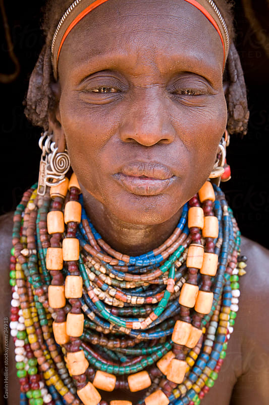 Portrait of a woman of the Galeb tribe, Lower Omo Valley, Ethiopia, Africa by Gavin Hellier for Stocksy United