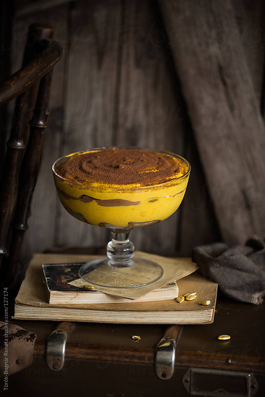 Pumpkin tiramisu by Török-Bognár Renáta for Stocksy United