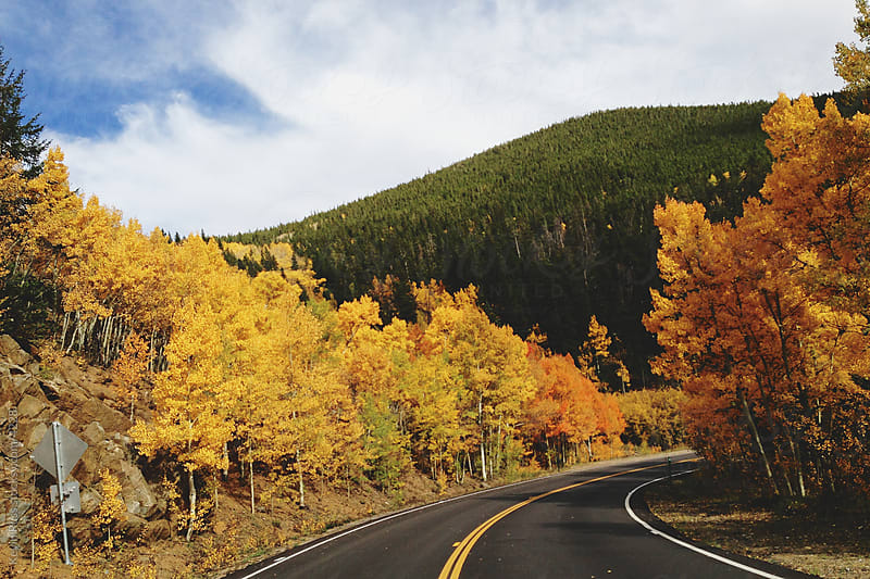 Fall Mountain Road by Kevin Russ for Stocksy United