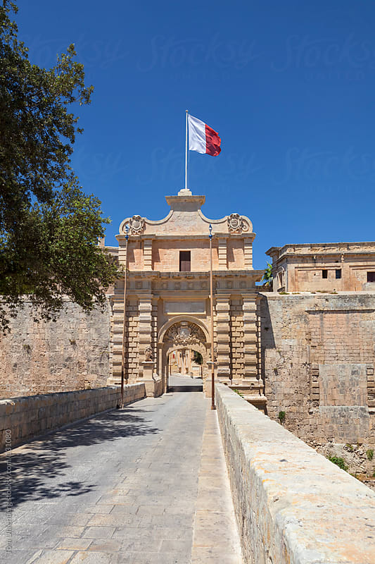 City Gate in Mdina - Former Capital City of Malta by Tom Uhlenberg for Stocksy United