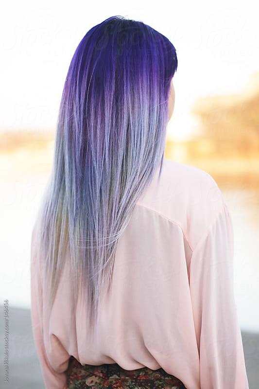 Purple hair by Jovana Rikalo for Stocksy United