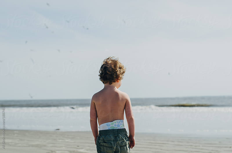 Boy and Beach by Ali Deck for Stocksy United