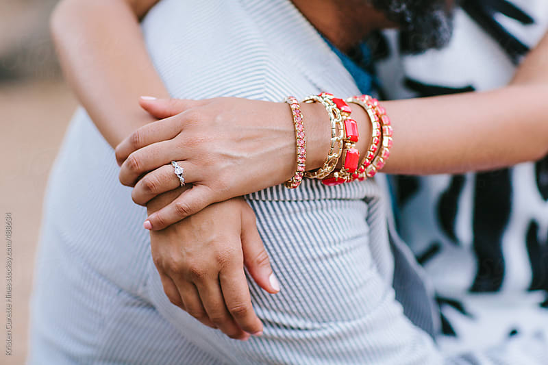 A close-up shot of a bride and her wedding ring by Kristen Curette Hines for Stocksy United