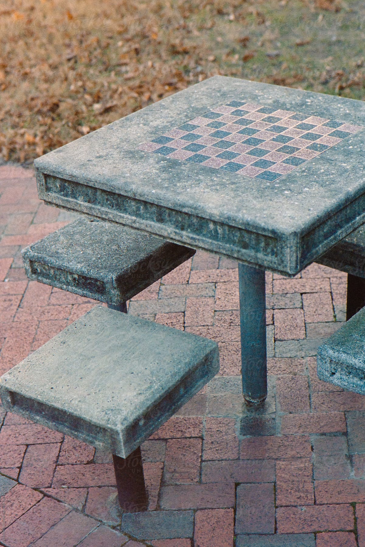 Concrete Chess Table By Cameron Whitman For Stocksy United