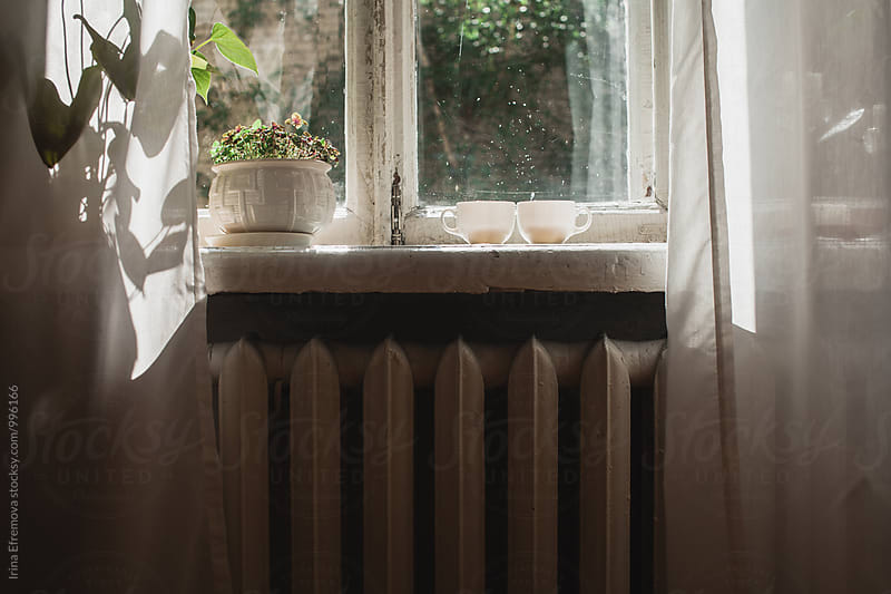 Window lighted by bright morning sun  by Irina Efremova for Stocksy United