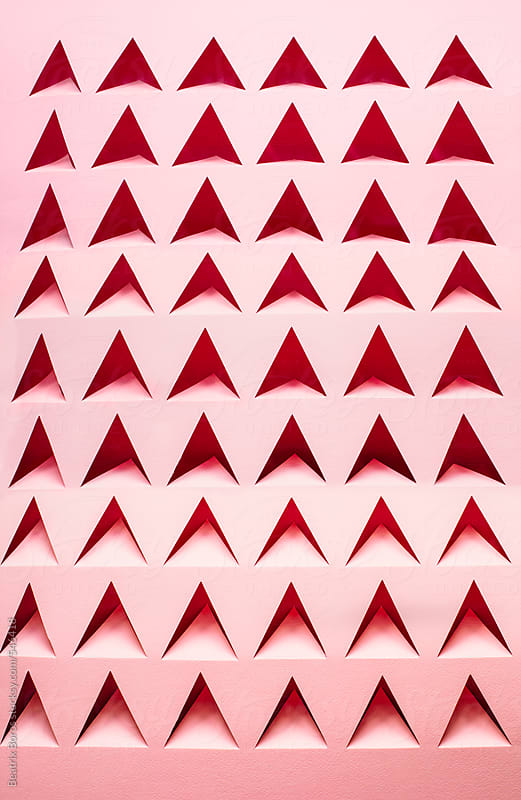Polygon pattern made of paper  by Beatrix Boros for Stocksy United