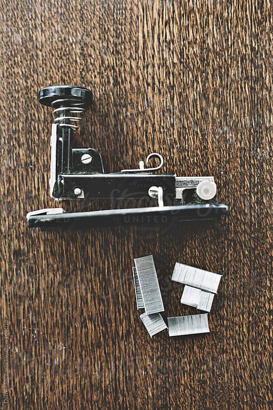 Vintage staple gun. by Darren Muir for Stocksy United