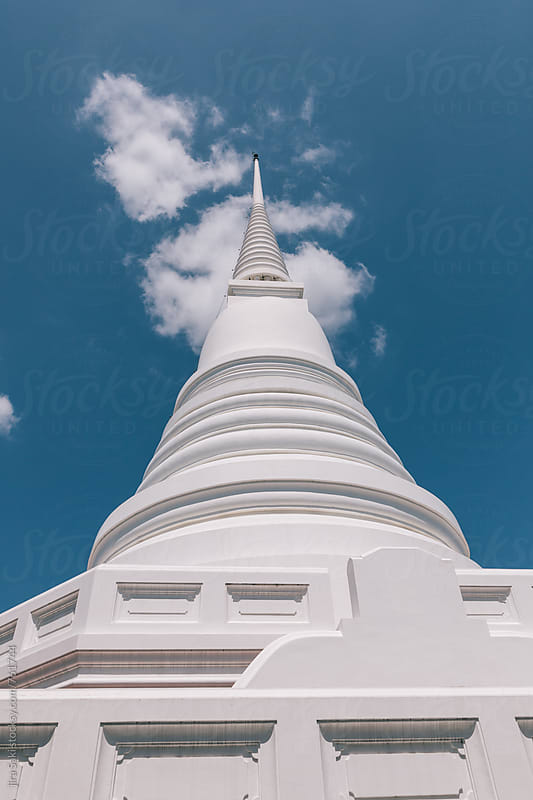 white pagoda by jira Saki for Stocksy United