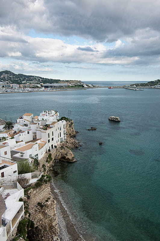 Views of Ibiza seaport by Bisual Studio for Stocksy United