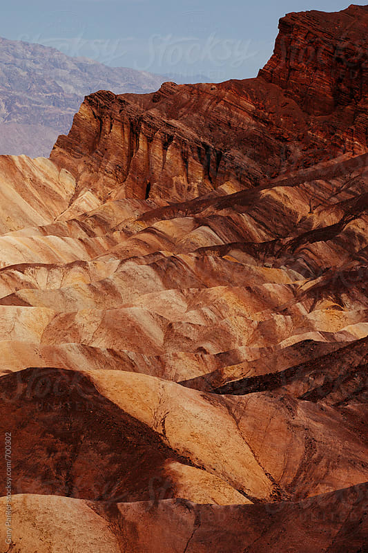 Rock layers in Death Valley California