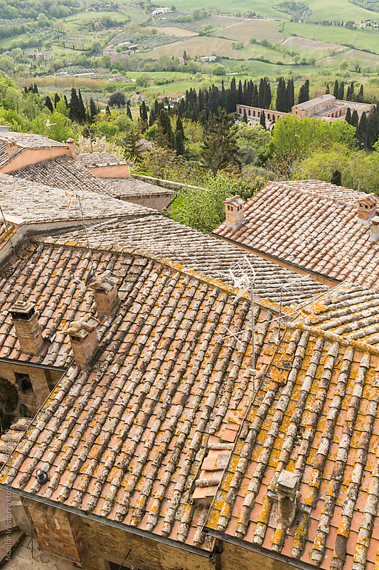 Rooftops in a tuscan village by Marilar Irastorza for Stocksy United