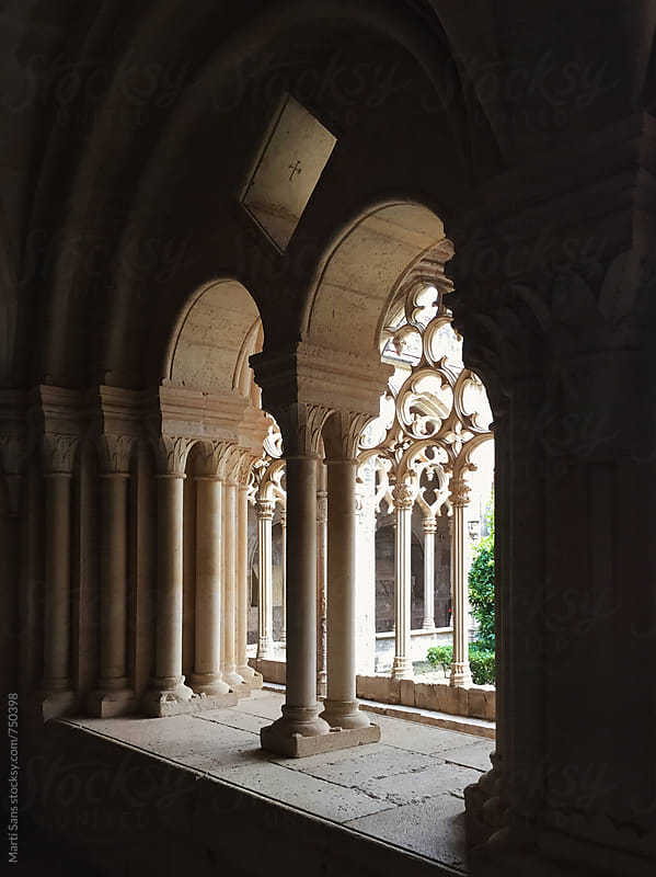Window of Santes Creus monastery cloisters by Martí Sans for Stocksy United