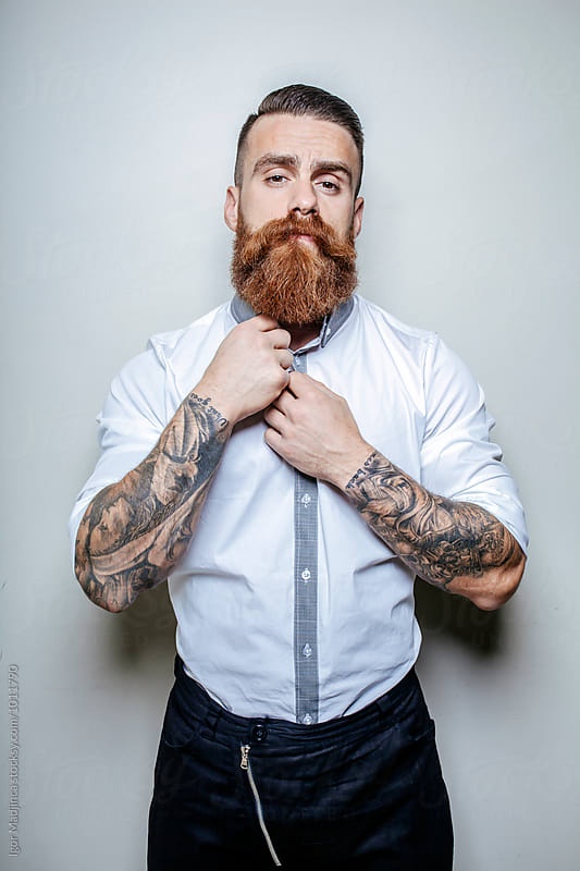 fashionable sexy hipster  by Igor Madjinca for Stocksy United