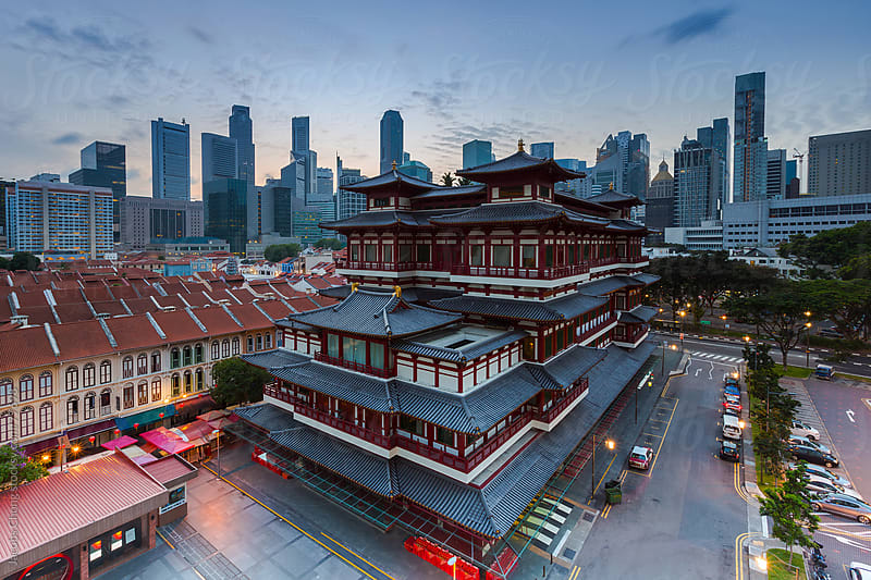 Buddha's Relic Tooth Temple  by Jacobs Chong for Stocksy United
