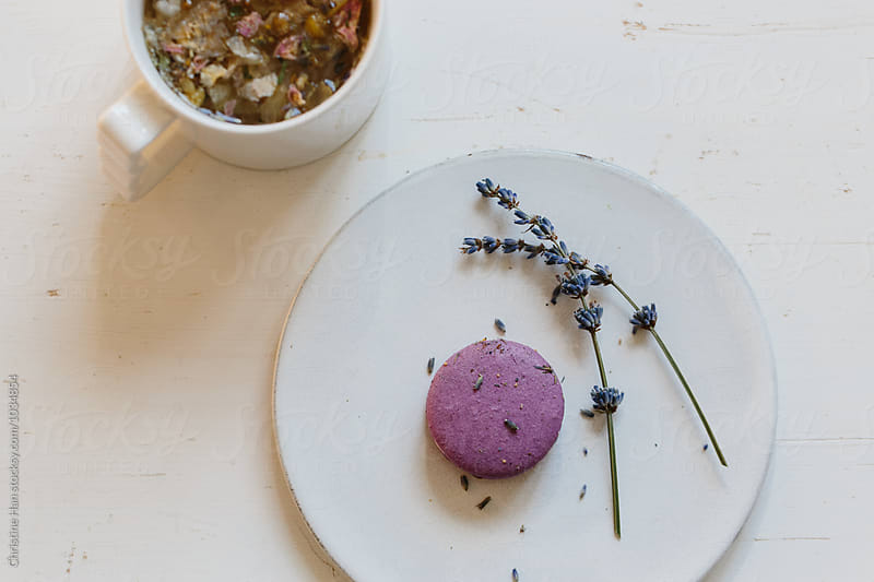 Tea & Macarons by Christine Han for Stocksy United