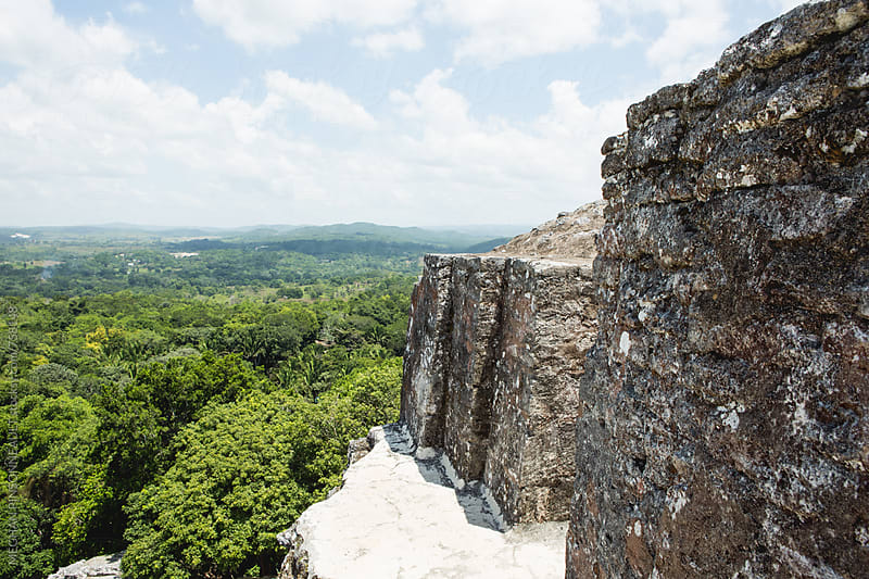 Jungle View From Atop Ancient Mayan Temple by MEGHAN PINSONNEAULT for Stocksy United