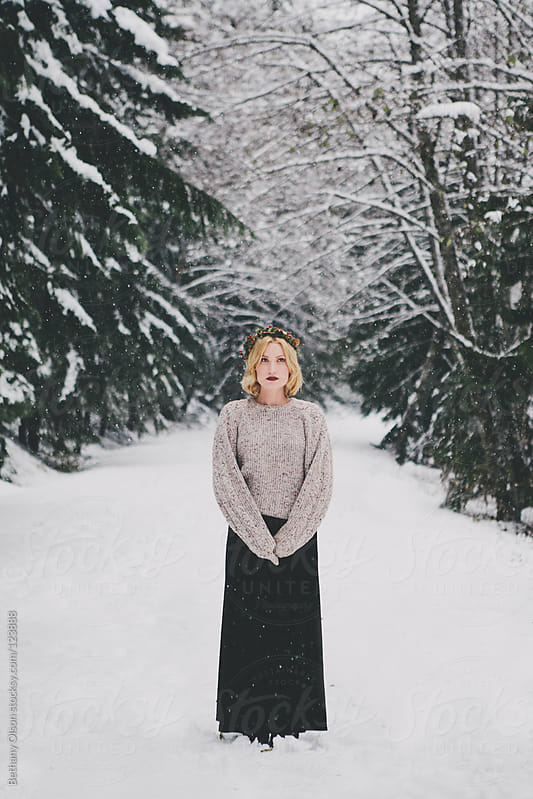 Snowfall by Bethany Olson for Stocksy United