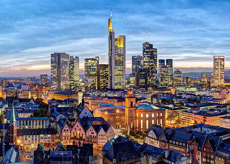City skyline, Frankfurt-am-Main, Hessen, Germany, Europe by Gavin Hellier for Stocksy United
