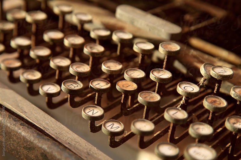 old typewriter closeup by Sonja Lekovic for Stocksy United