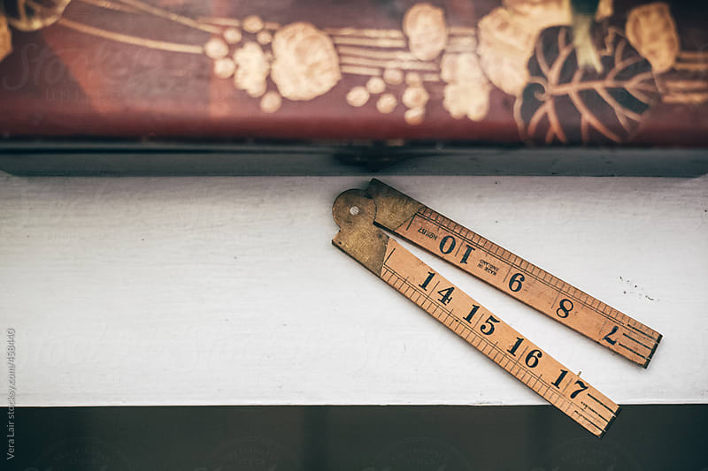 Old english measurement by Vera Lair for Stocksy United