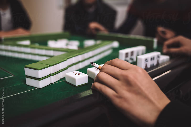 Chinese Mahjong by zheng long for Stocksy United