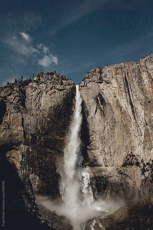 Upper Yosemite Falls Waterfall by Evan Dalen for Stocksy United