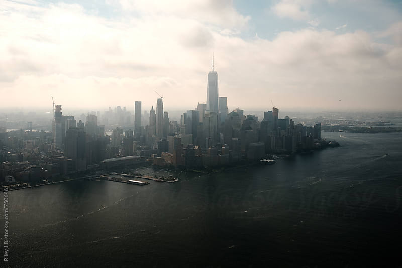 The Lower Manhattan Skyline on a Hazy Morning by Riley J.B. for Stocksy United