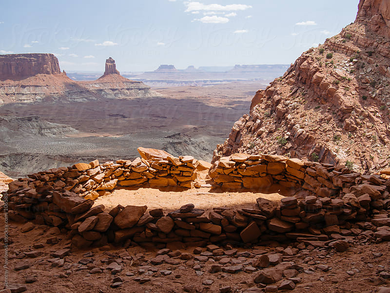 Native American Kiva made of stone in the desert of Canyonlands National Park, Utah by Jeremy Pawlowski for Stocksy United
