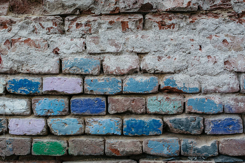Exposed brick on an old wall by Gabriel (Gabi) Bucataru for Stocksy United