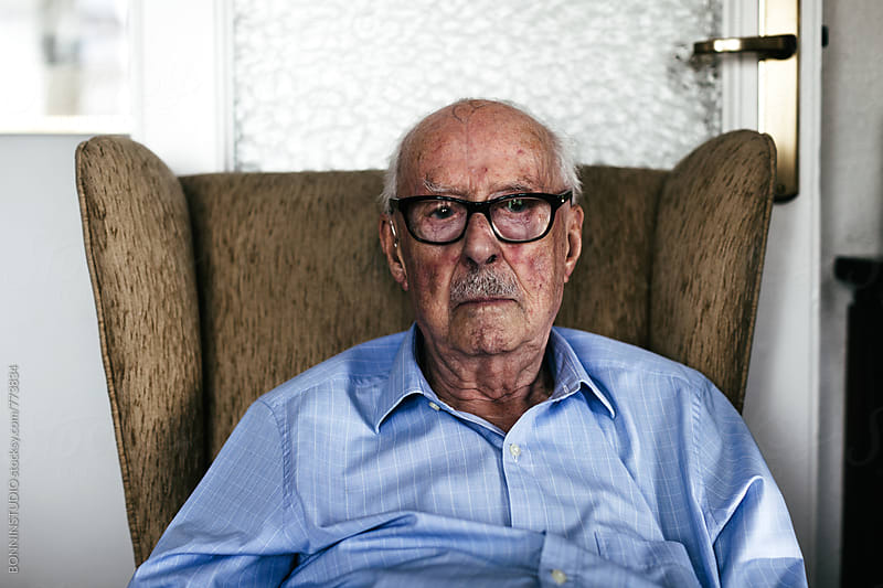 A 96 years old man portrait. Grandfather. by BONNINSTUDIO for Stocksy United