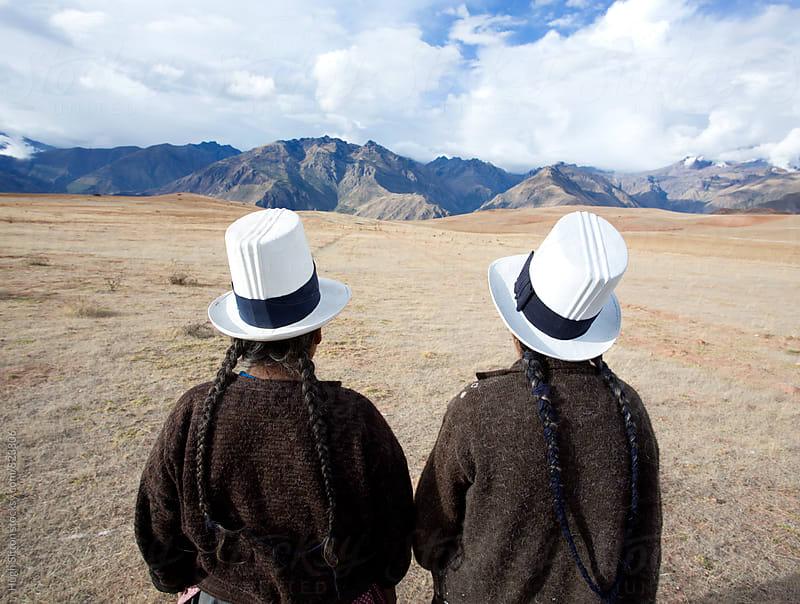 Traditionally Dressed Peruvian women. Peru. by Hugh Sitton for Stocksy United