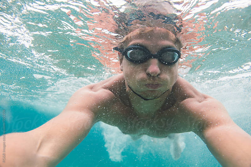 selfie under water  by RG&B Images for Stocksy United