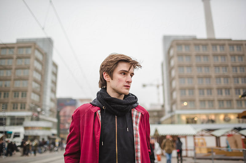 Young man in Berlin by michela ravasio for Stocksy United