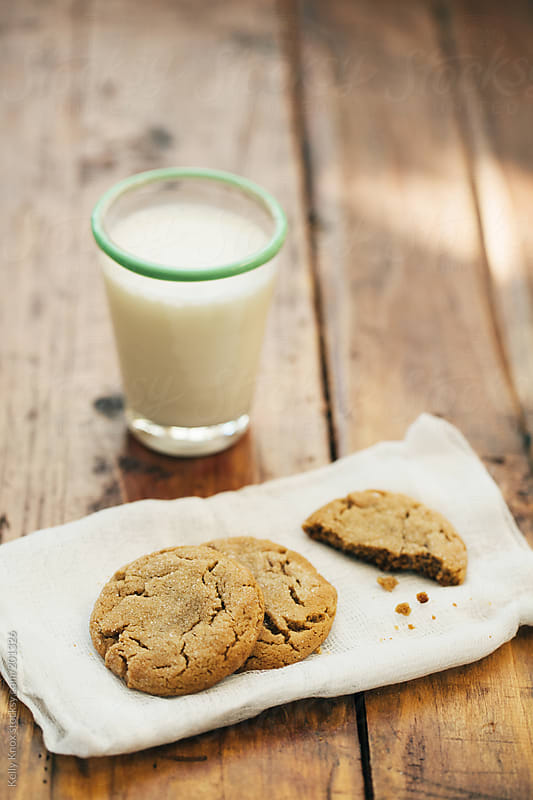 cookies and a glass of milk by Kelly Knox for Stocksy United