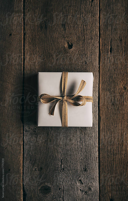Rustic: Single Gift Wrapped With Jute Ribbon by Sean Locke for Stocksy United