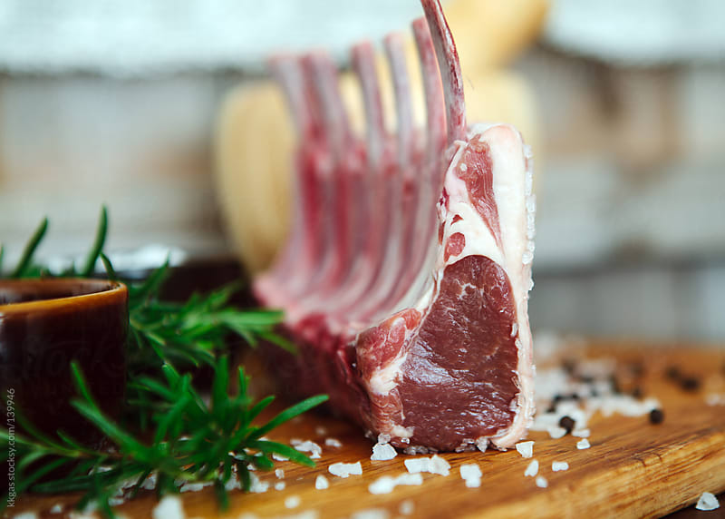 Raw Rack of Lamb by kkgas for Stocksy United