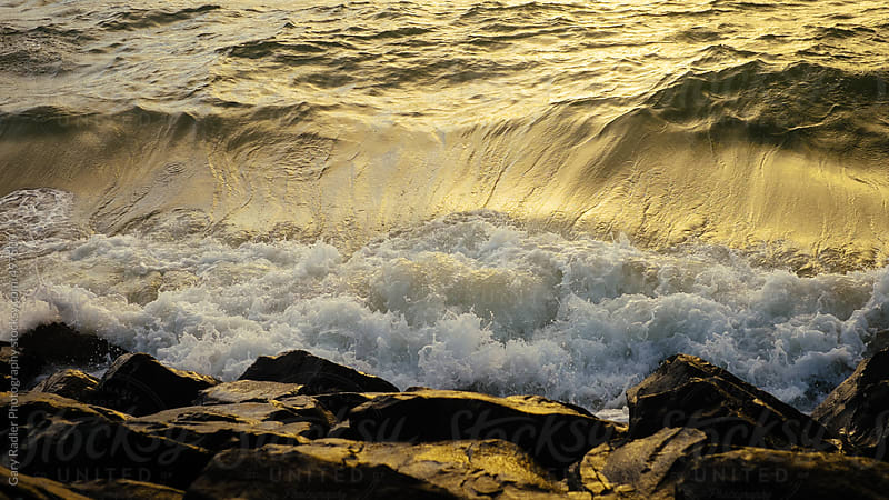 Waves on Rocks by Gary Radler Photography for Stocksy United
