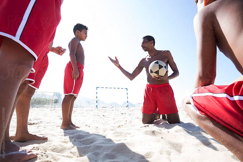 Beach Soccer School. Rio de Janeiro. Brazil. by Hugh Sitton for Stocksy United