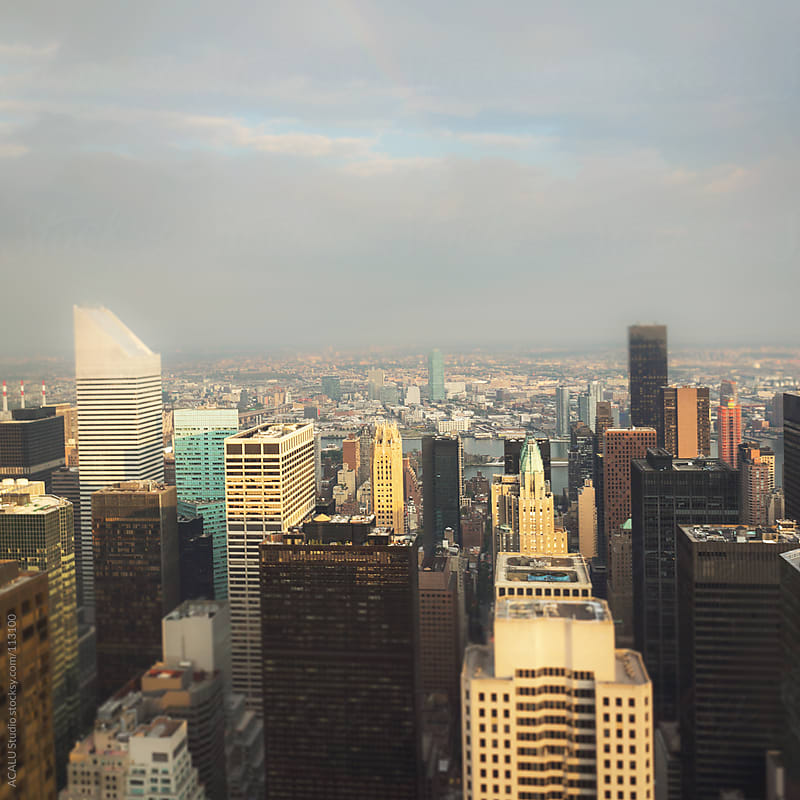 TiltShift to Top of the Rock by ACALU Studio for Stocksy United