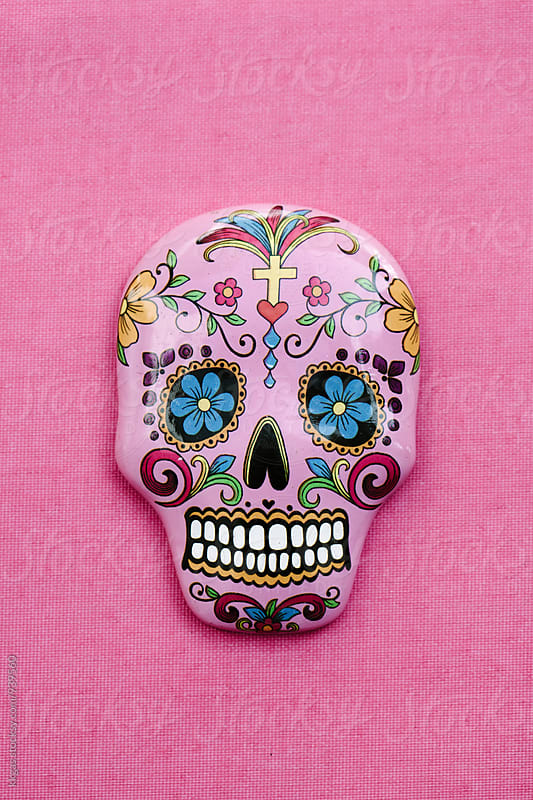 Pink sugar skull by kkgas for Stocksy United