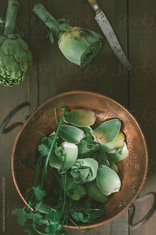 Artichokes still life by mee productions for Stocksy United