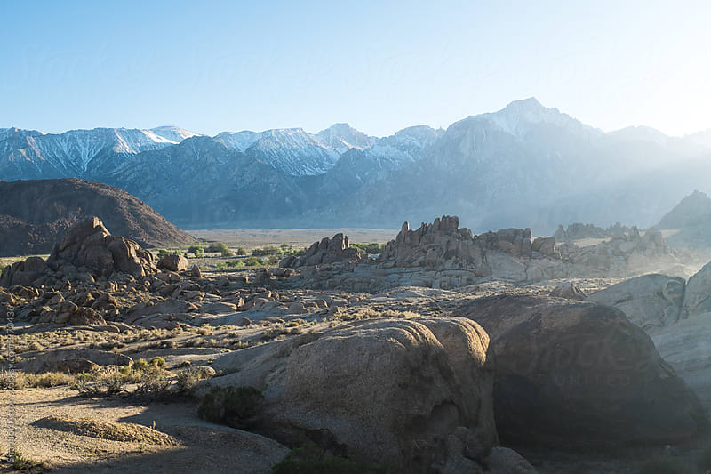 Alabama Hills, CA at sunset. by Shannon Aston for Stocksy United