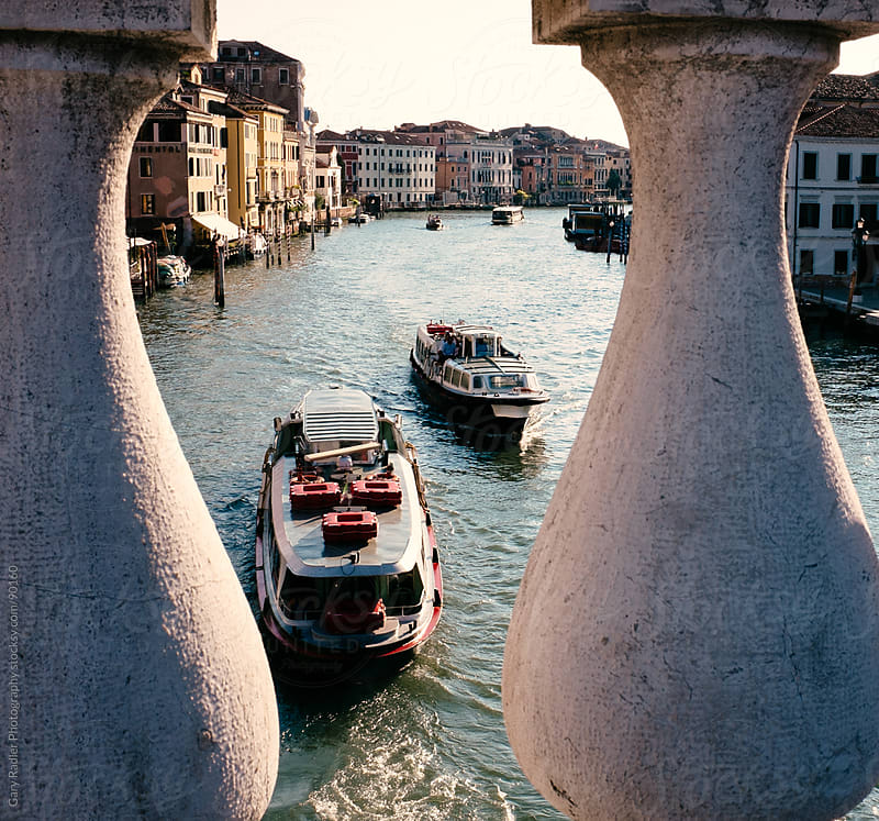 Grand Canal viewed from bridge near Santa Lucia Station by Gary Radler Photography for Stocksy United