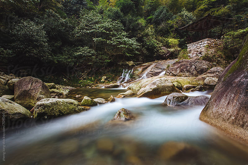 Mountain stream,Jiangxi,China by zheng long for Stocksy United