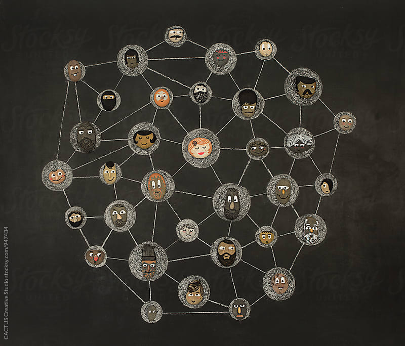 Illustration of a network system by Blai Baules for Stocksy United