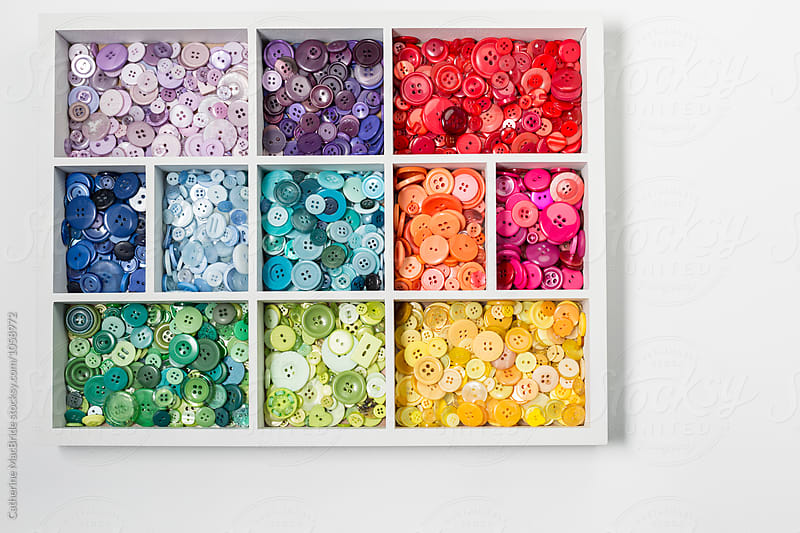 Organised button collection... by Catherine MacBride for Stocksy United