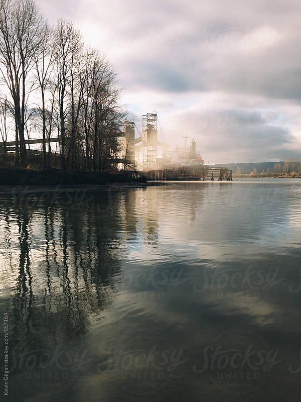 Portland Shipyard Fog by Kevin Gilgan for Stocksy United