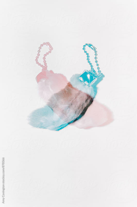 Lucky rabbits foot double exposure  by Amy Covington for Stocksy United